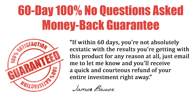 His Secret Obsession has a 60-day money back guarantee