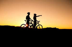 Couple on a bike ride - Casual Dating